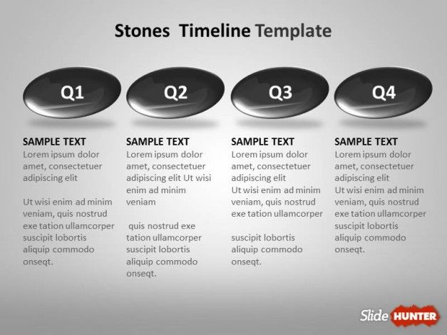 Best free and premium powerpoint timeline templates timeline template year to year design with stones toneelgroepblik Choice Image