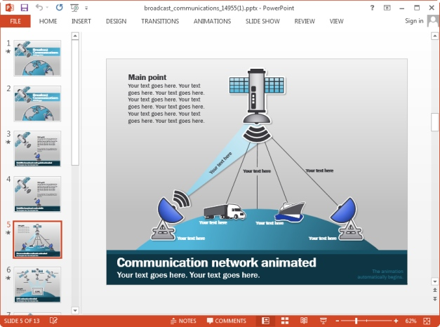 communication networks template for keynote