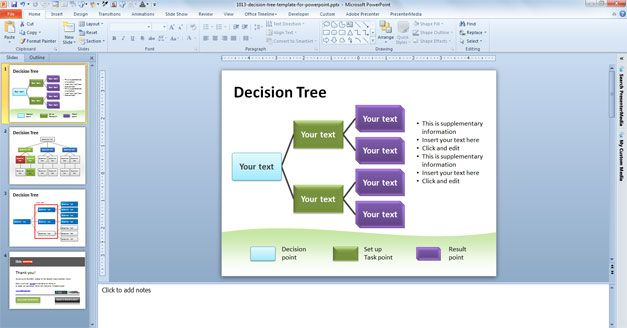 free decision tree powerpoint template