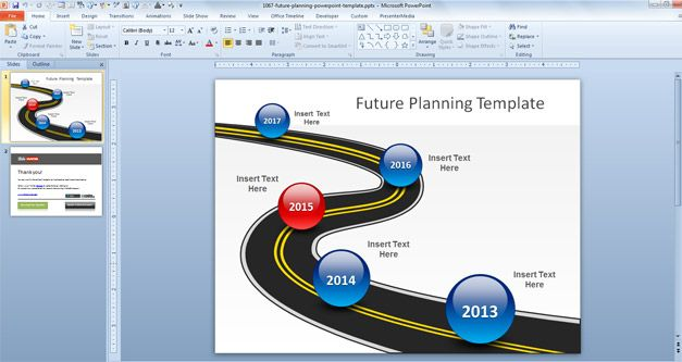 Best free and premium powerpoint timeline templates free future planning powerpoint template toneelgroepblik Choice Image